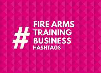 hashtags for fire arms training Business