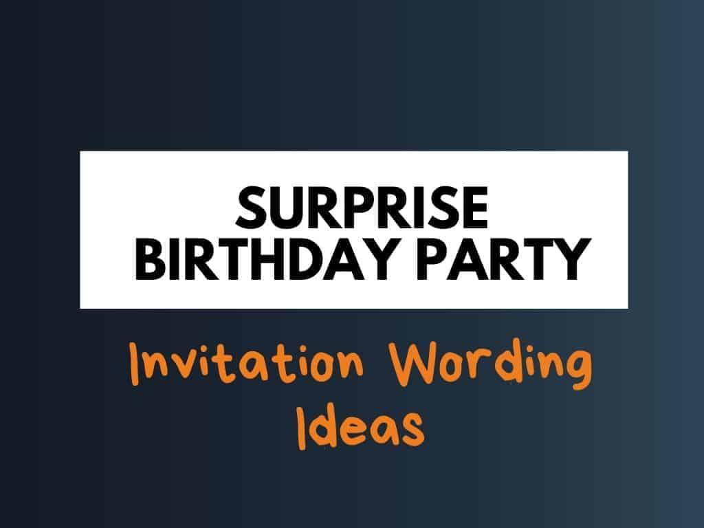 best surprise birthday party invitation