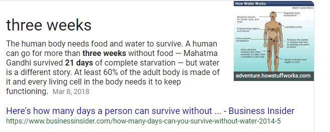 Human body food