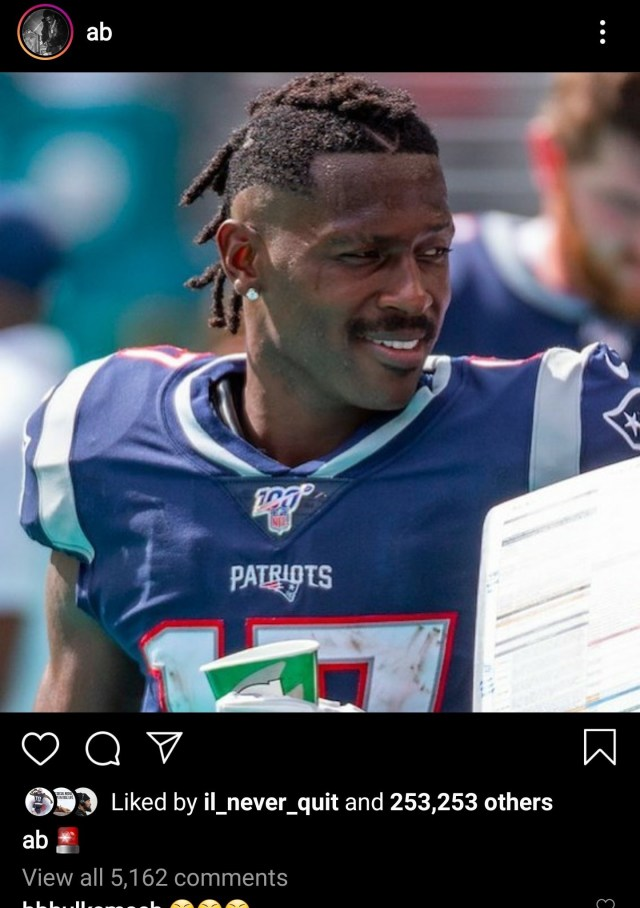 Antonio Brown Back On His BS With His Recent Post