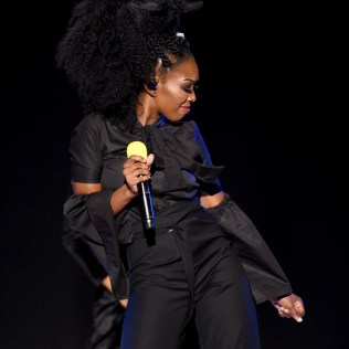 LAS VEGAS, NV - NOVEMBER 06: Singer Brandy performs onstage during the 2016 Soul Train Music Awards at the Orleans Arena on November 6, 2016 in Las Vegas, Nevada. (Photo by Kevin Winter/BET/Getty Images for BET)