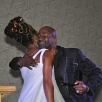 Brandy hugs Gordon Chambers