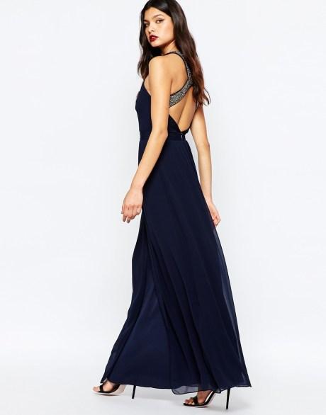 Warehouse - Maxi robe avec ornements et bretelles croisées au dos 125,99 € - ASOS
