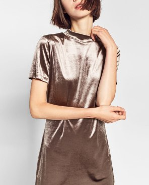Velvet dress - ZARA