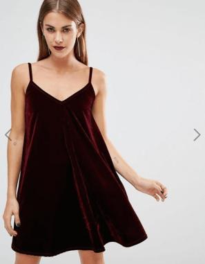Velcet dress - ASOS