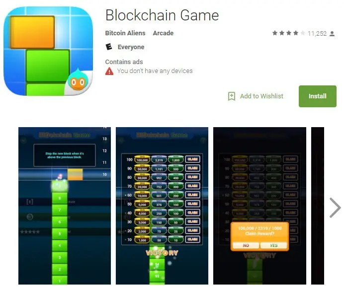 Blockchain Game - A Game That Gives You Free Bitcoin