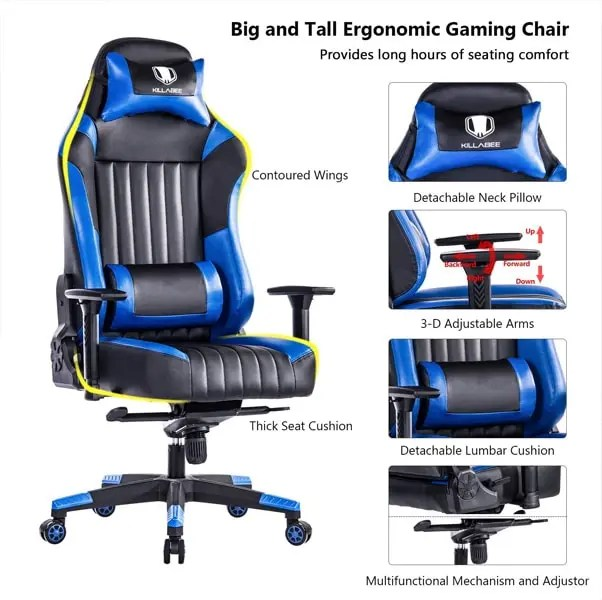 Killabee Big & Tall Gaming Racing Chair - Best Racing Gaming Chairs of 2018