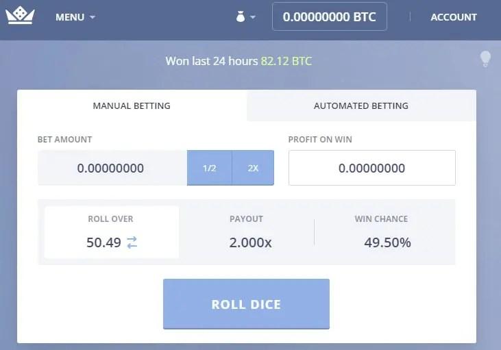 PrimeDice - A Bitcoin Gambling Game