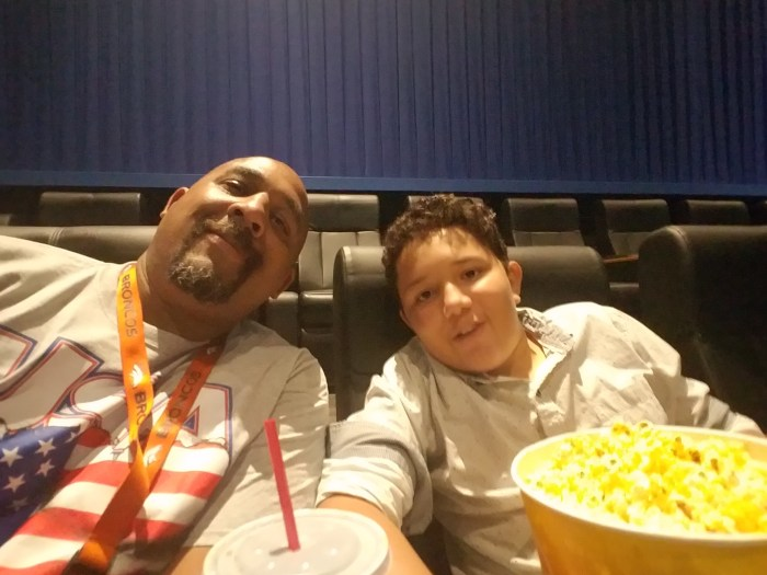 Brandon and Dad at the opening night of Star Trek Beyond in Longmont