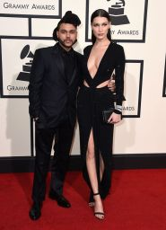 The Weeknd earned his spot in best dressed with this all black tux by Givenchy. (Photo: Jordan Strauss/Invision/AP).