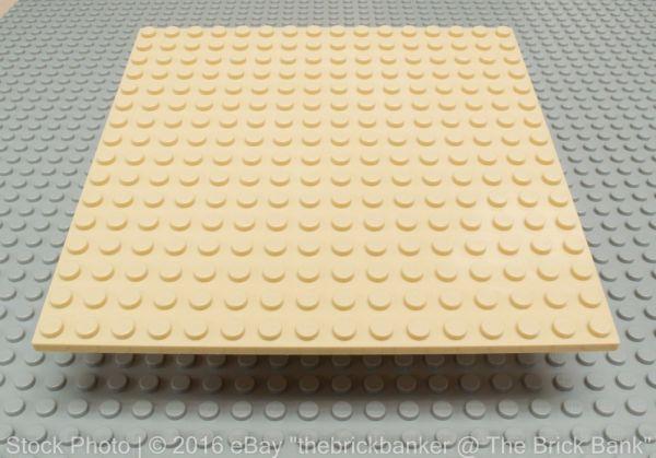 Lego 16x16 Dot Light Tan Plate 5x5 1 3 Thickness Baseplate 91405 Platform - Brick Bank