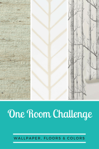 Wallpaper, Floors, and Colors-One Room Challenge Week 2