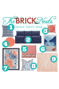 Nests' Nifty Nine — Coral and Blue