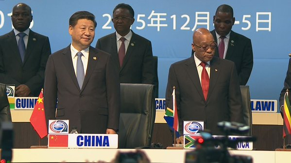 Zumba is co-chairing the FOCAC Summit with Chinese President Xi Jinping in Johannesburg on 4 December 2015 [Xinhua]