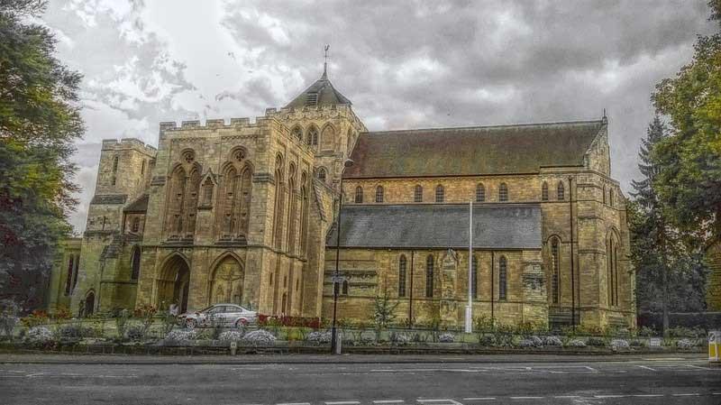 Church from Harrogate bridal shop