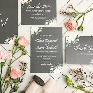 Custom Wedding Invitation Stationery