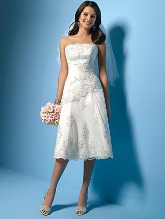Informal Short Wedding Gown  thebridalgown