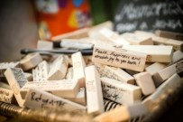 Get your Jenga pieces signed and remember your wedding day every time you play Jenga! Great fun!