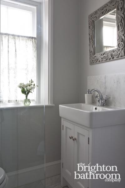 Elegant, Marbletiled Shower Room —lower Beeding The