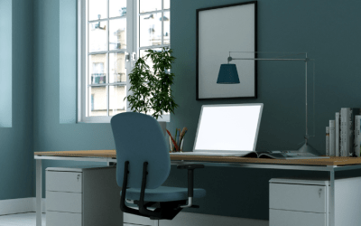 The Best Paint Colours for More Productive Home Offices