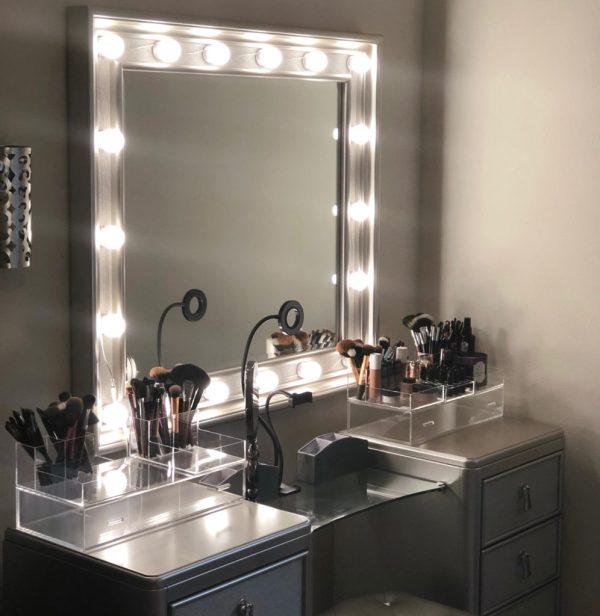 Diy Hollywood Style Vanity Mirror - Bri Spot