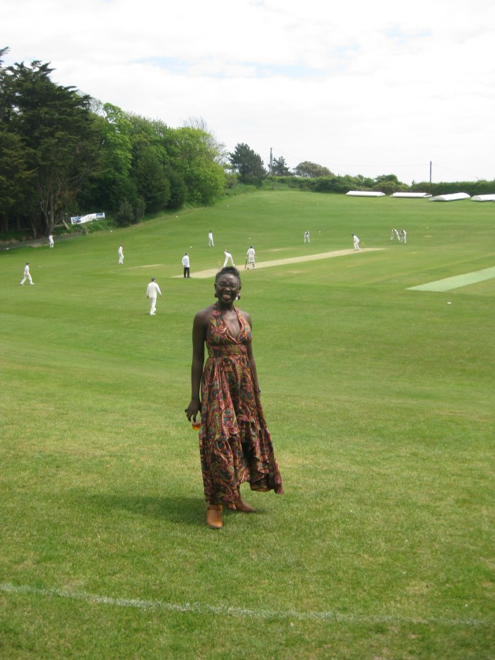 On the cricket field at one of my best friend's wedding on the Isle of Wight. In the UK!