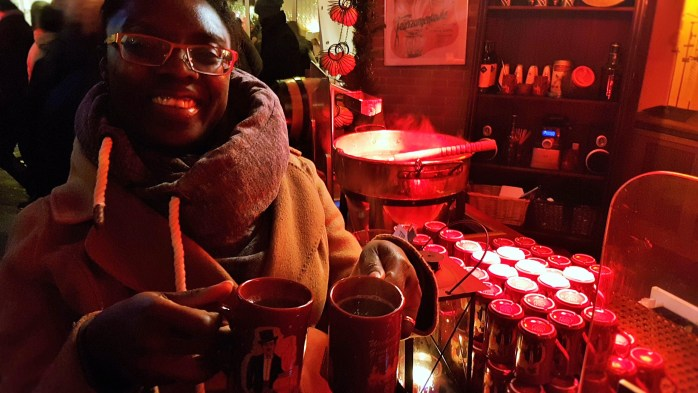 ...And there's so much to drink at the German Christmas Market too!