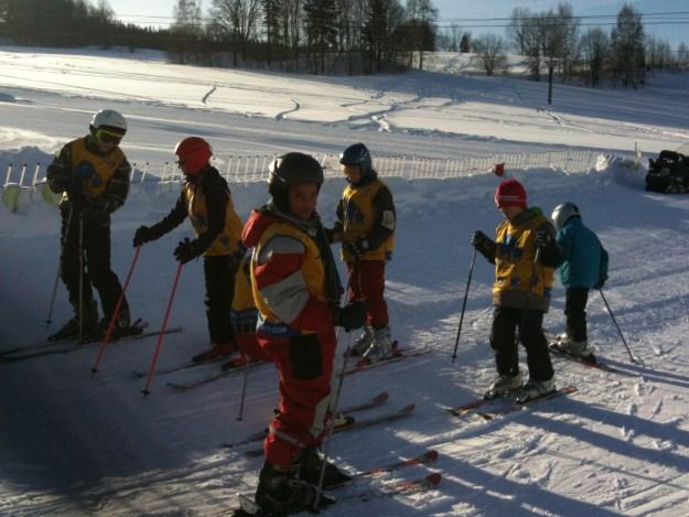 Skiing in the Czech Republic.