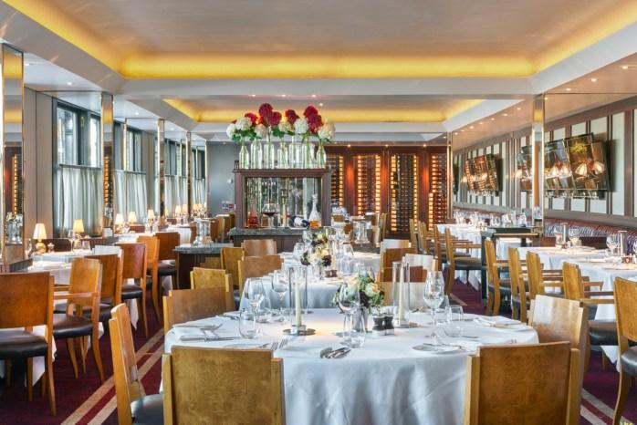 Tables set for lunch & dinner at Le Pont de la Tour!