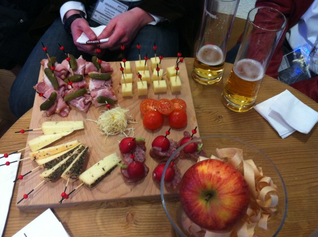 Austrian food provided at the Bloggers After-Party sponsored by Mrs. Berry.de and Tirol Werbung.
