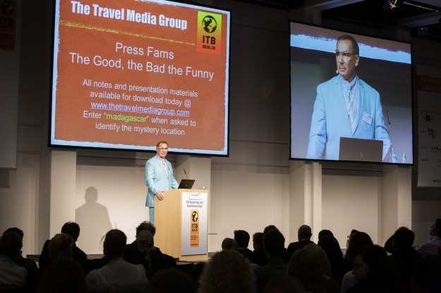 """Press Fam Trips: The Good, The Bad And The Very Funny"""" Percy von Lipinski from CNN."""