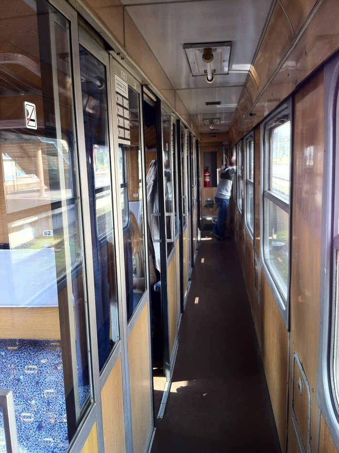 In the corridor of the Polish Train.