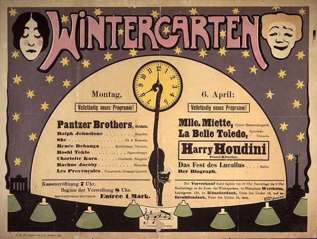 Houdini Wintergarten Berlin. Many, many years ago!