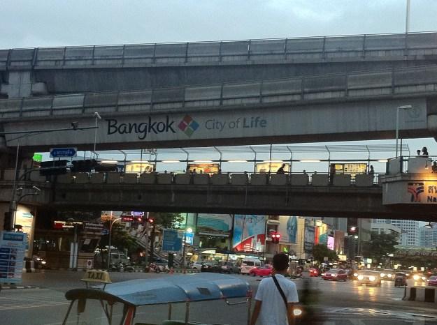 The modern city of Bangkok, Thailand.