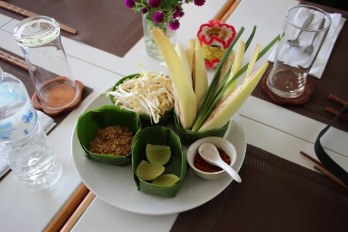All you need: Basic Thai ingredients such as lemongrass, jack fruit, peanuts, bean sprouts, limes, and chillis.