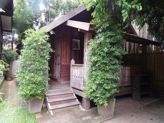 The outside of our Chalet at Tanita House.