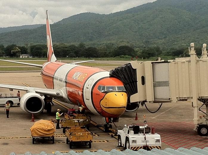Funny bird or Angry bird at Nok Air!