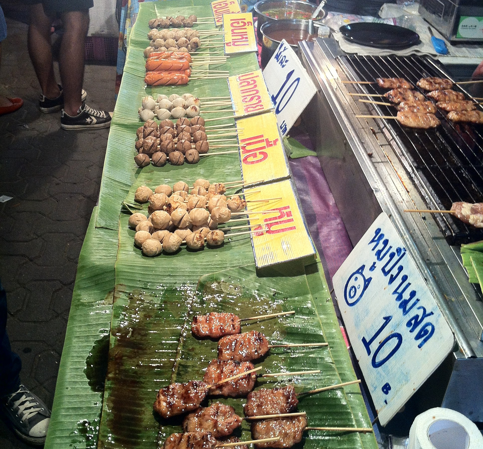 Thai food; Thai meat; meat; Thai Market; Thai street market; food; street food; cooking; Chiang Mai; Thailand; Asia; travel;