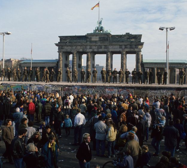 The Berlin Wall after the opening of the Wall near Brandeburger Gate on November 11th, 1989!  Photo@ 25 Archiv Bundesstiftung Aufarbeitung - Uwe Gerig. (www.berlin.de/2013)