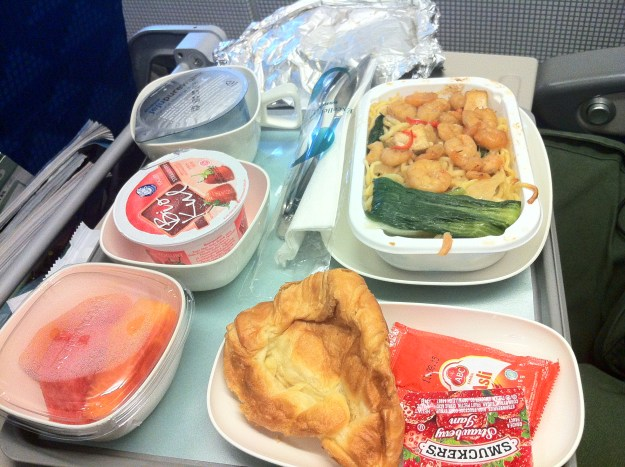 Korean airline food. Not bad at all!