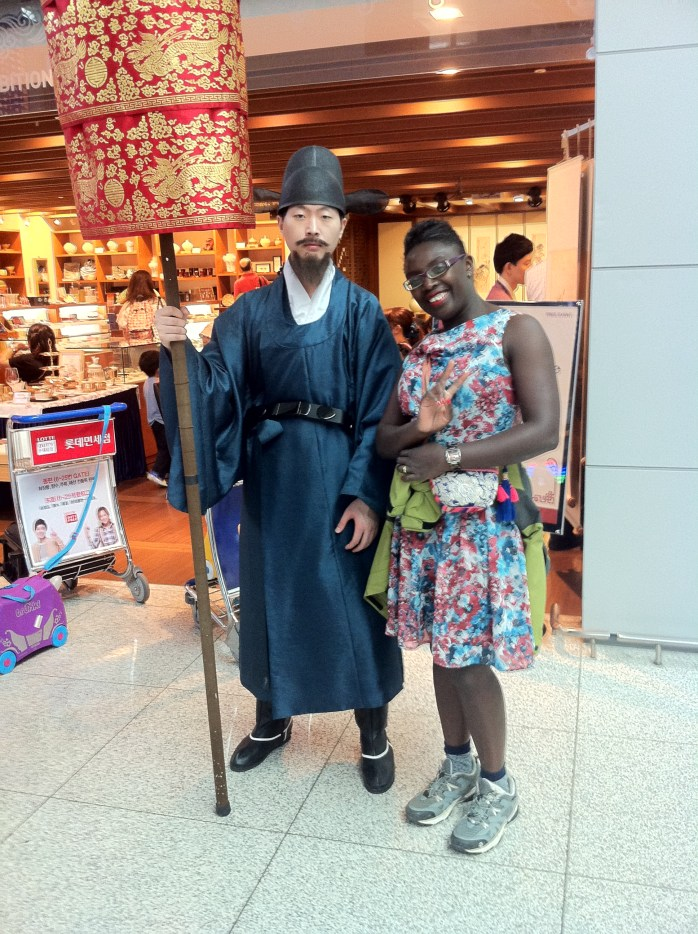 """Myself with a member of the """"Royal Family"""" in South Korea."""