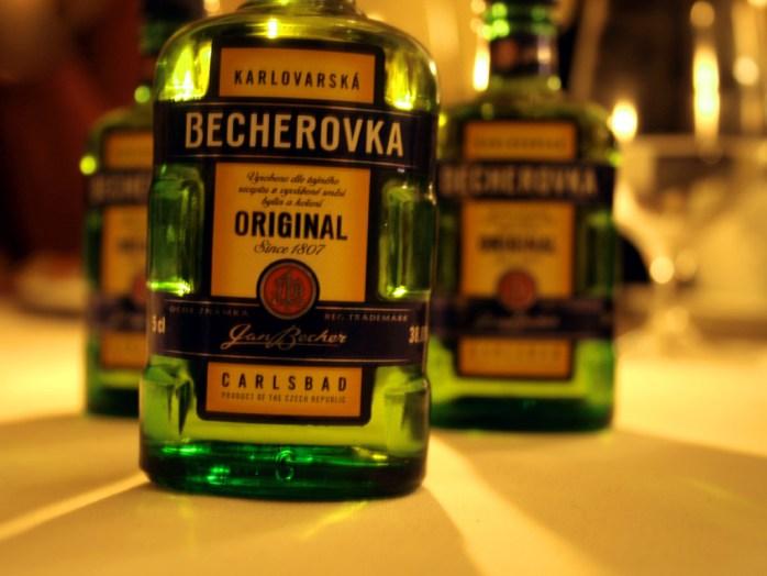Becherovka - a type of herbal, spicy, aniseed Czech liquor!