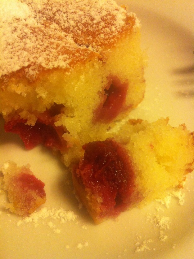 Sourcherry Sponge Cake.