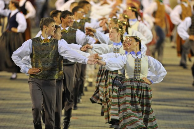 A song and dance festival in Latvia.