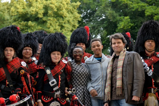 The Black Kilts and my British-German family! © Pascale Scerbo Sarro