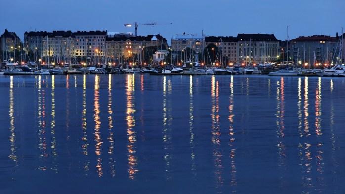 Helsinki river view. Finland.