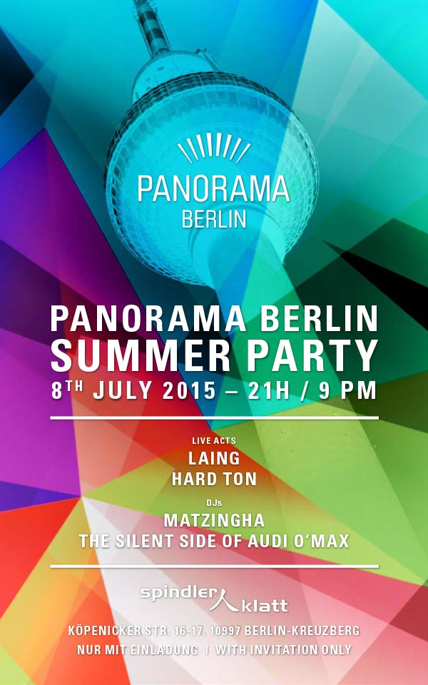 Panorama Flyer Summer Party - Berlin Fashion Week