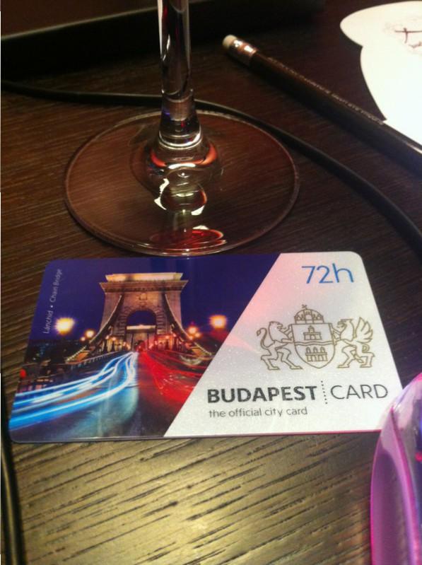 Budapest Card 72 hours.