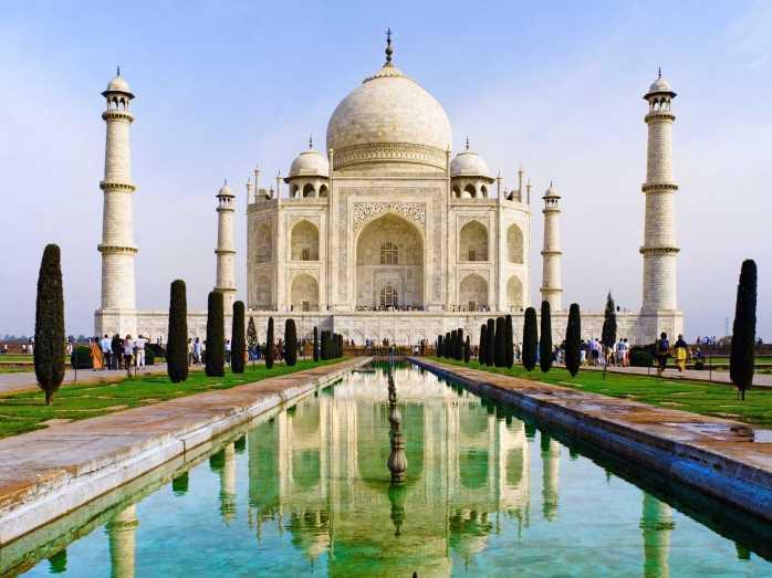 The Taj Mahal in India.