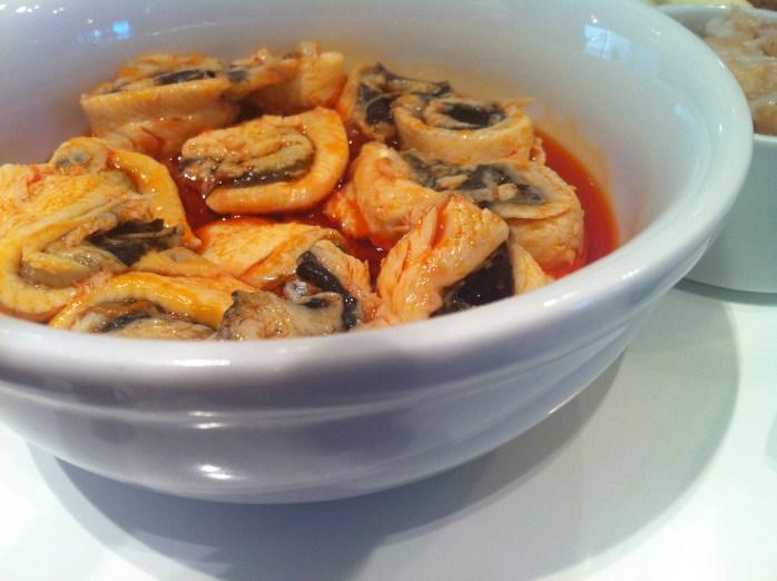 Pickled herrings in spicy oil in Warsaw.